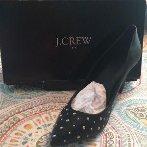 Black Studded JCrew Shoes
